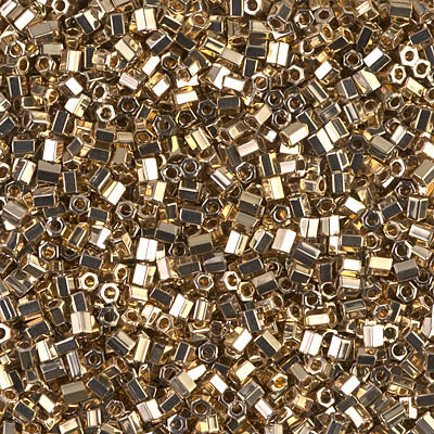 11C-193 - 11/0 Cut 24kt Gold Light Plated (Like DB 34)  Miyuki Seed Bead | 25 Grams