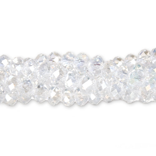 CC-072 - Chinese Crystal 4x6mm Rondelle Beads, Crystal AB | 1 Strand