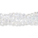 CC-072 - Chinese Crystal 4x6mm Rondelle Beads,Crystal AB | 1 Strand