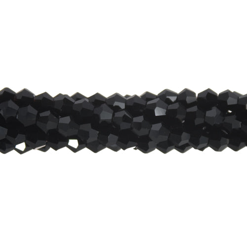CCBI-010 - Chinese Crystal 4mm Bicone Beads, Jet | 1 Strand