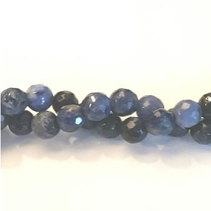 "GM-0224 - Faceted Sodalite 6mm Gemstone Beads | 16"" Strand"