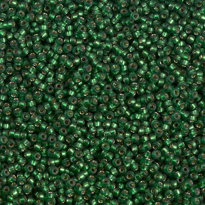 15-1642 - 15/0 Dyed SF S/L Leaf Green (Like DB 690) Miyuki Seed Bead | 25 Grams