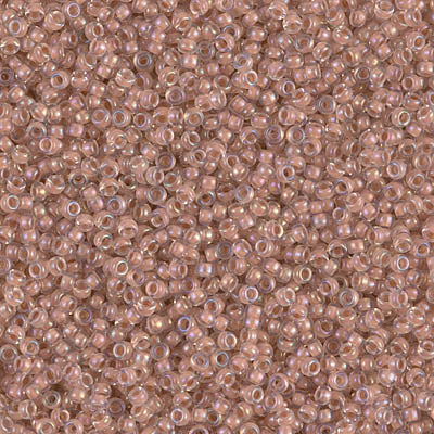 15-2199 - 15/0 Blush Lined Crystal AB (Like DB 69) Miyuki Seed Bead | 25 Grams