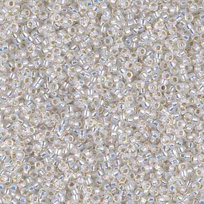 15-551 - 15/0 Gilt Lined White Opal (Like DB 221) Miyuki Seed Bead | 25 Grams