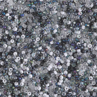 15-MIX-07 - 15/0 Miyuki Seed Bead Mix, Salt and Pepper | 25 Grams