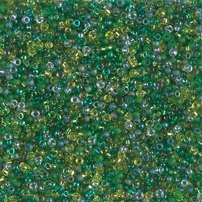 15-MIX-10 - 15/0 Miyuki Seed Bead Mix, Ever Green | 25 Grams