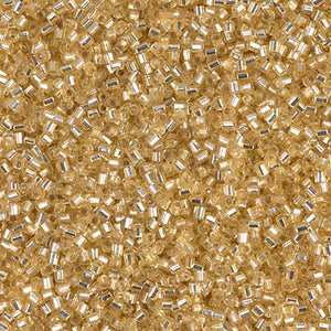 15C-3 - 15/0 Hex Cut Silver-Lined Gold (Like DB 42) Miyuki Seed Bead | 25 Grams