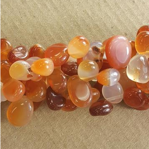 "GM-0654 - Carnelian Top Drilled Nugget Gemstone Beads | 16"" Strand"