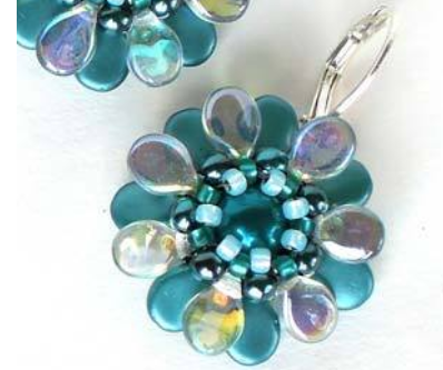 #PDF-192 - Pip Flowers Earrings Project by Denisa Kangas