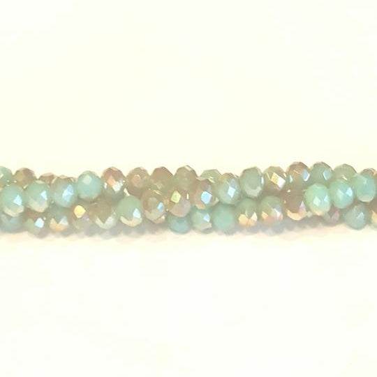 CC-039 - Chinese Crystal 3x4mm Rondelle Beads,Antique Blue/Gold | 1 Strand