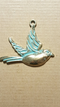 CL-9440 - Antique Brass With Patina Flying Bird Pendant, 60x52mm | Pkg 1