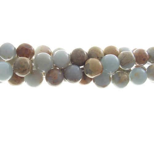 "GM-0112 - 6mm Aqua Terra Jasper Gemstone Bead Strand | 16"" Str"