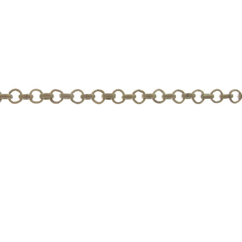 CHN-0064 - Antique Brass 6mm Rolo Chain | 3 Feet