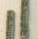 AB-0036 - Antique Brass Blessed Pendant,7x40mm | Pkg 2
