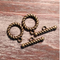 AB-0908 - Antique Brass 15mm Roped Toggle Clasp | Pkg 5