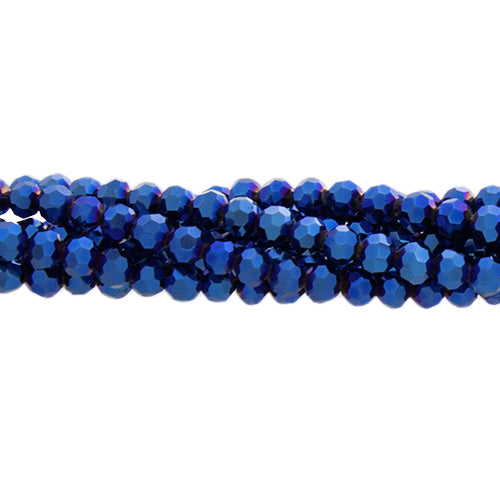 CC3RND-010 - Chinese Crystal 3mm Round Bead Strand,Metallic Blue | 1 Strand