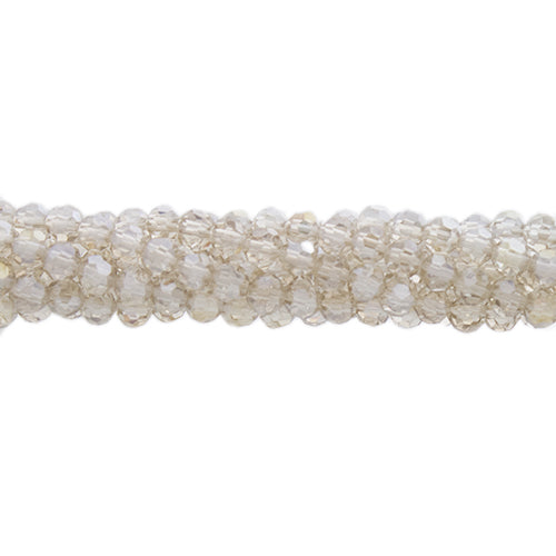CCR-317 - Chinese Crystal 3mm Round Beads, Golden Shadow AB | 1 Strand