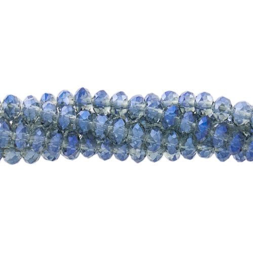 CC-009 - Chinese Crystal 2x3mm Rondelles Blue Vitrail | 1 Strand