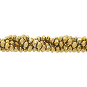 CC-074 - Chinese Crystal 4x6mm Rondelle Beads, Gold | 1 Strand