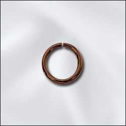 GC/JR032X6/AC - Genuine Antique Copper 6mm Open Jump Rings | Pkg 20