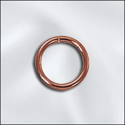 GC/JR040X8 - Genuine Copper Open Jump Rings,8mm | Pkg 20