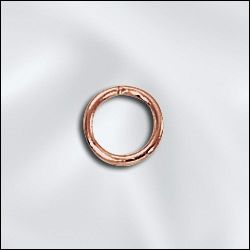 GC/JR040x6 - Genuine Copper Open Jump Rings,6mm | Pkg 20