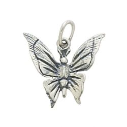 SS/CR5/BF - Sterling Silver Butterfly Charm, 15x14mm | Pkg 1
