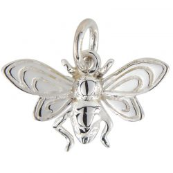 SS/CR5/LHB - Sterling Silver Large Honey Bee Charm, 10x12mm | Pkg 1
