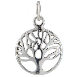 SS/CR5/TOL - Sterling Silver Tree Of Life Charm, 12mm | Pkg 1