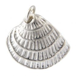 SS/CR5/LSS - Sterling Silver Sea Shell Charm, 14x12.5mm | Pkg 1
