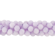 "GM-0120 - 8mm Faceted Jade Gemstone Bead Strand, Lilac | 16"" Str"
