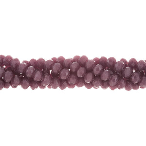CC-045 - Chinese Crystal 3mm Round,Opaque Grape | 1 Strand