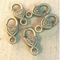AB-0018 - Antique Brass Heart Lobster Clasps,10x18mm | Pkg 5