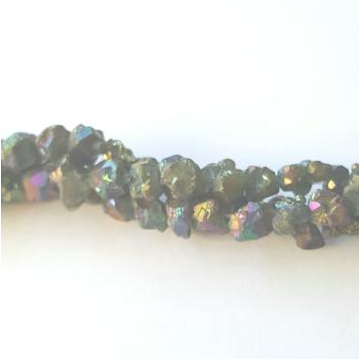 GM-517 - Pyrite Nugget Gemstone Beads With AB Finish,7mm | Pkg 1 Strand