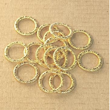 AB-0183 - Gold Pewter 14mm Rings | Pkg 25