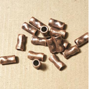 AB-0073 - Pewter Hammered Tube Beads, Antique Copper Finish, 6x12mm | Pkg 20