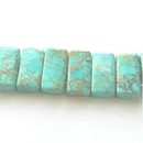 GM-502 - Turquoise Blue Variscite Double Drilled Rectangle Gemstone Beads,10x20mm | Pkg 1 Strand