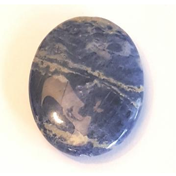 GM-0222 - Sodalite Oval Gemstone Pendant,30x40mm | Pkg 1