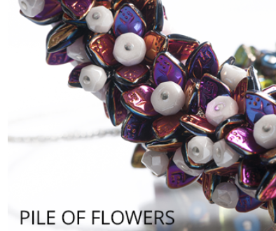 #PDF-374 - Pile of Flowers Necklace Project by Michal Papez