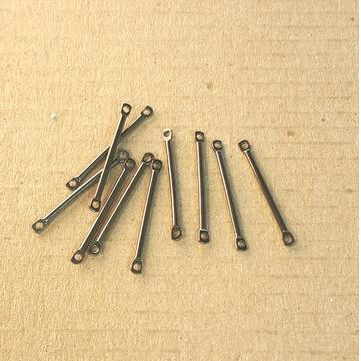 AB-0120 - Gunmetal Bar With 2 End Loops,2x22mm | Pkg 20