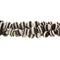 "GM-0032 -4mm Black And White Synthetic Calsilica Gemstone Bead Strand | 16"" Str"