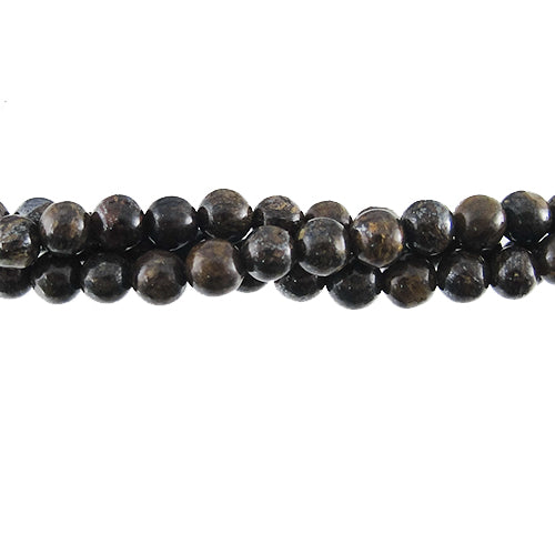 "GM-0050 - 4mm Bronzite Round Gemstone Bead Strand  | 16"" Str"