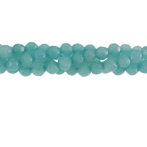 "GM-0057 - 8mm Faceted Jade Gemstone Bead Strand, Amazonite Blue | 15"" Str"