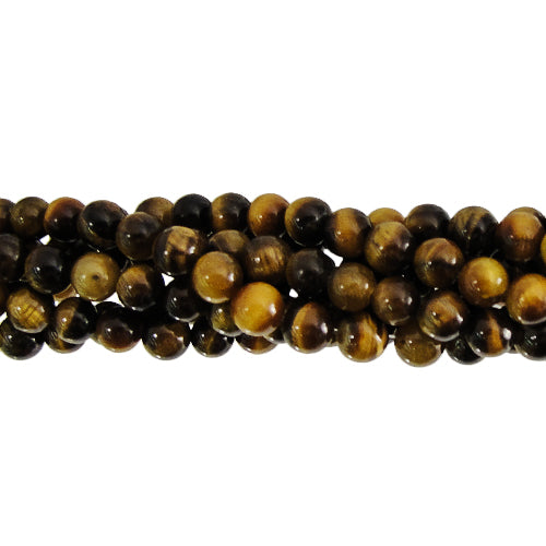 GM-0005 - 4mm Tiger Eye Gemstone Bead Strand | 1 Strand