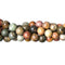 "GM-0127 - 4mm New Picasso Jasper Round Gemstone Beads | 16"" Strand"