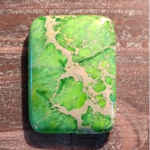 GM-0436 - Green Variscite Rectangle Gemstone Pendant,30x40mm | Pkg 1