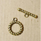 AB-0271 - Antique Gold 15mm Roped Toggle Clasp | Pkg 5