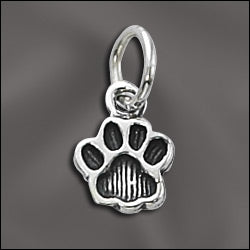 SS/CR3/PS - Sterling Silver 10mm Paw Charm | Pkg 1