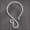 SS/002 - Sterling Silver Fancy Ear Wire, 20 Gauge | 1 Pair