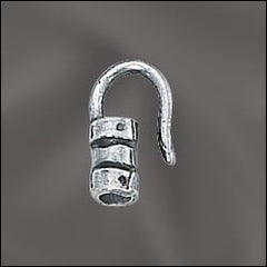 SS/5063/2 - Sterling Silver 2mm Crimp End Hook | Pkg 1
